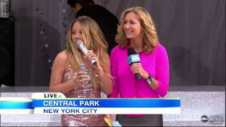"Mariah Carey Wardrobe Malfunction 2013: During NYC ""GMA"" Concert 'Saga'"
