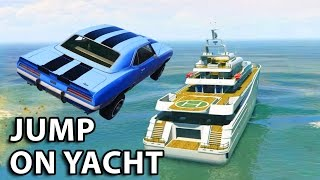 GTA V - 2 Fast 2 Furious Jump on yacht Scene