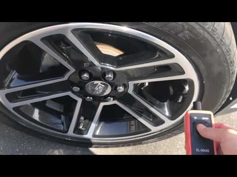 Escalade TPMS Relearn, 2015 model year