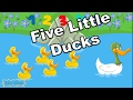 Download Five Little Ducks | Kids Word MP3 song and Music Video