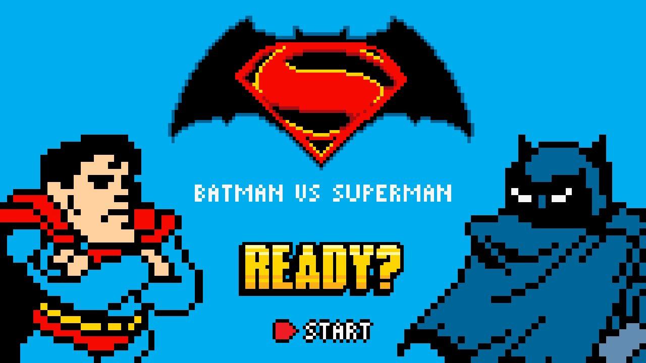 Batman Vs Superman Pixel Art Fight Animation Neo Geo Pocket Style By Pxlflx