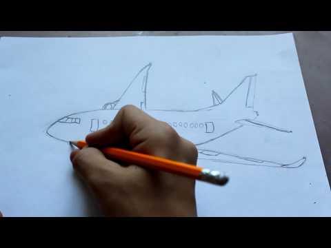 Как нарисовать самолет боинг 747