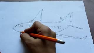 Как нарисовать самолёт!