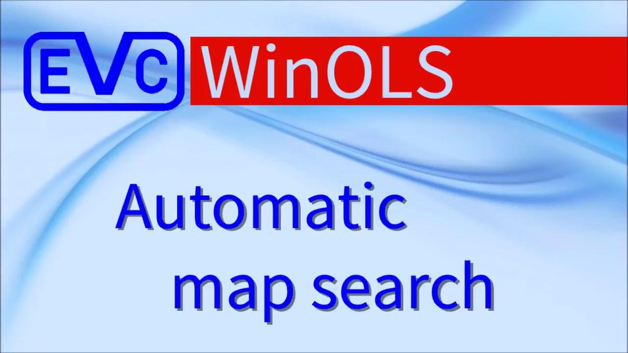 WinOLS: Automatic map search