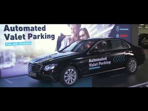 daimler and bosch demo automated valet parking youtube. Black Bedroom Furniture Sets. Home Design Ideas