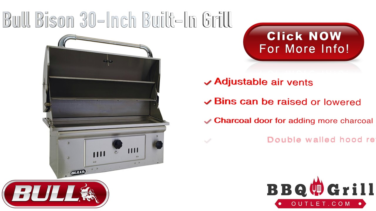Bbqgrilloutlet Bull Bison Drop In Bbq Charcoal Grill