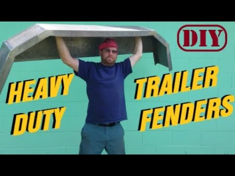 How to build TRAILER FENDERS ! ... fast- easy-cheap