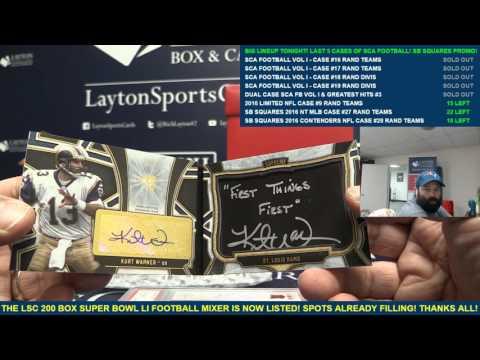 The Sports Card Almanac – Football: Volume I – 4 Box Case Break #16