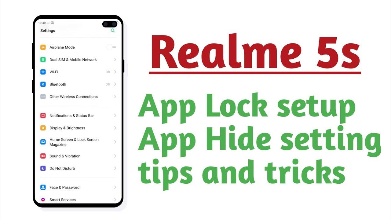 Download Realme 5s , App Lock setup App Hide setting tips and tricks