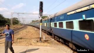 ED WAP-4 16724 Ananthapuri Express blasts Tirusulam!!!