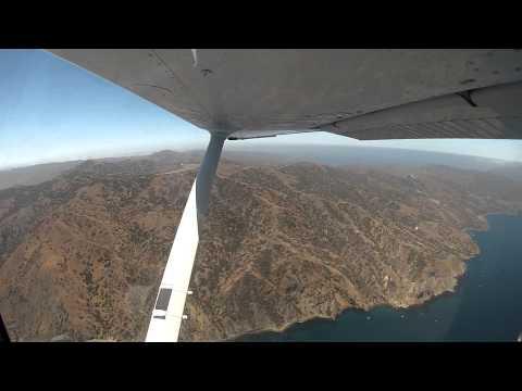 Flight from Long Beach to Catalina Island