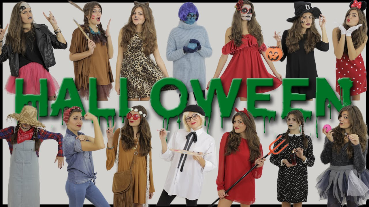 disfraces fciles para halloween last minute easy halloween costumes ideas angicupcakesblog youtube