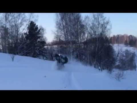 Снегоход Yamaha nytro mtx 162, покатушки зима 2015, Таргай. ямаха