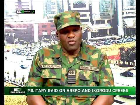 Military raid on Arepo and Ikorodu creeks