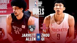 Zhou Qi & Jarrett Allen Duel In 2018 MGM Resorts Summer League Action!
