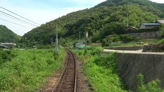 [4K]予土線 宇和島→江川崎 Cabview:Uwajima to Ekawasaki