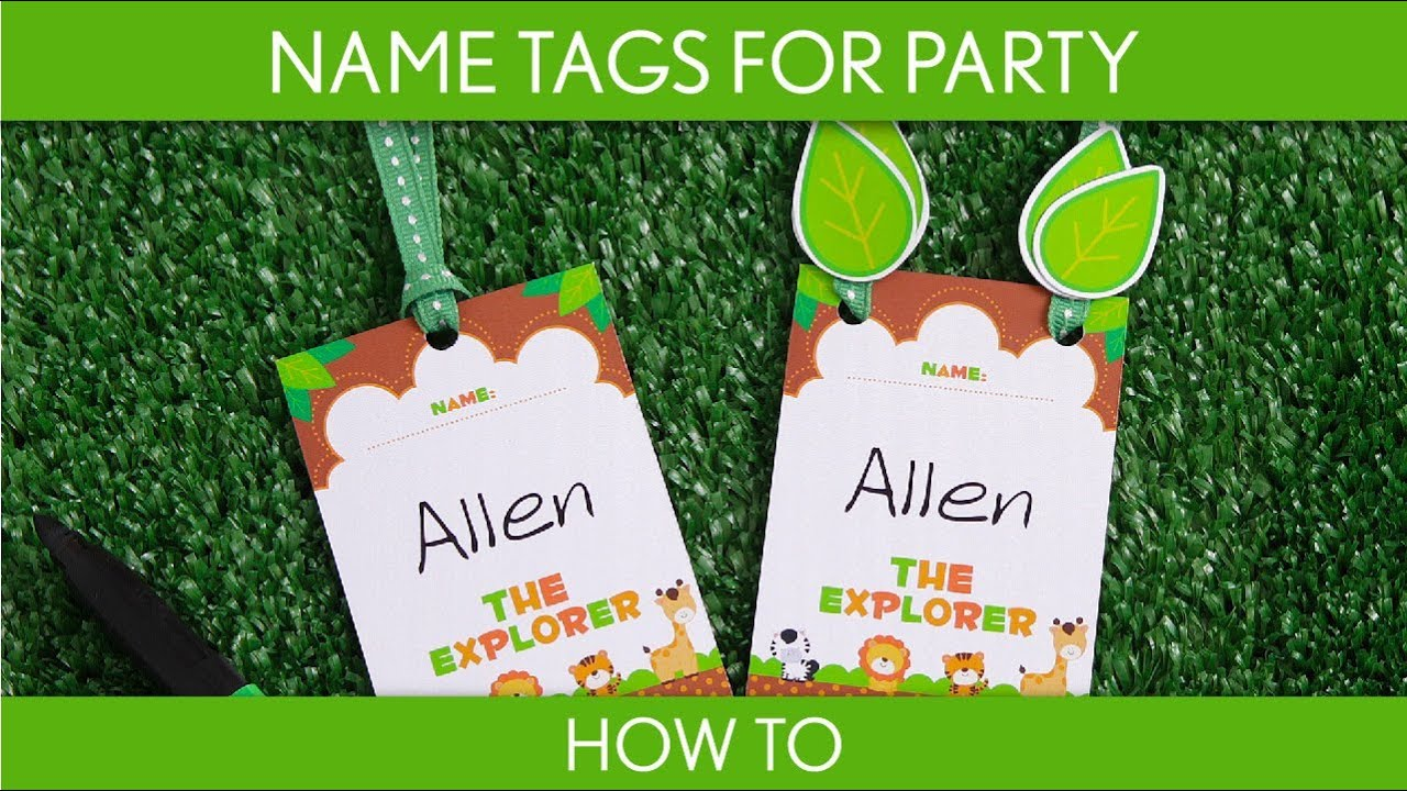 How to make name tags for party baby shower safari s10 how to make name tags for party baby shower safari s10 youtube solutioingenieria