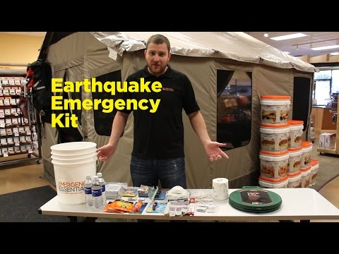 A Look Inside the Earthquake Emergency Kit