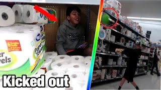 TRYING TO GET KICKED OUT OF WALMART!