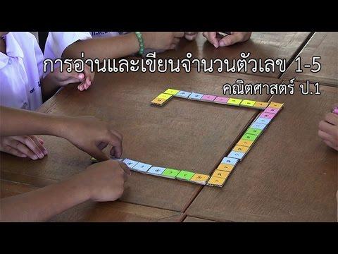 คณิตศาสตร์ ป.1 การอ่านและการเขียนจำนวนตัวเลข 1-5 ครูมาลิณี ชมภูวิเศษ