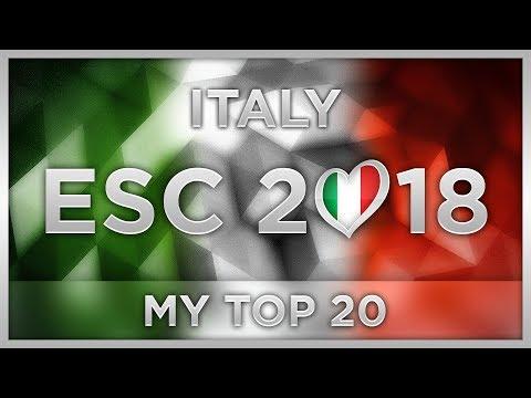 TOP 20 ITALY ESC 2018 (Sanremo Preselection)