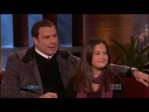 John Travolta & Ella Bleu, his daughter (Letterman)