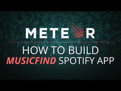 Learn to Build MusicFind Spotify App using JavaScript | Advance Projects in Meteor | Eduonix