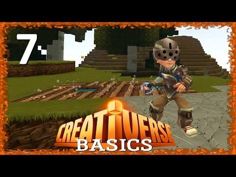 CREATIVERSE BASICS -07- Iron Gear and Farming - A How-To/Tutorial LetsPlay