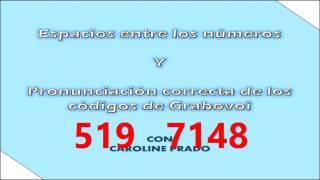 Espacio y pronunciación de numeros codigos de Grabovoi - Con Caroline Prado