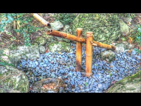 """Japanese Shishi Odoshi """"Deer Scarer"""" Bamboo Water Fountain"""