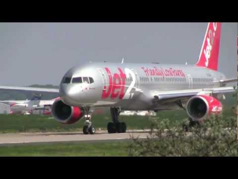 Leeds Bradford International Airport, Runway 14 Take-offs and Landings - 26th May, 2012 (1080 HD)
