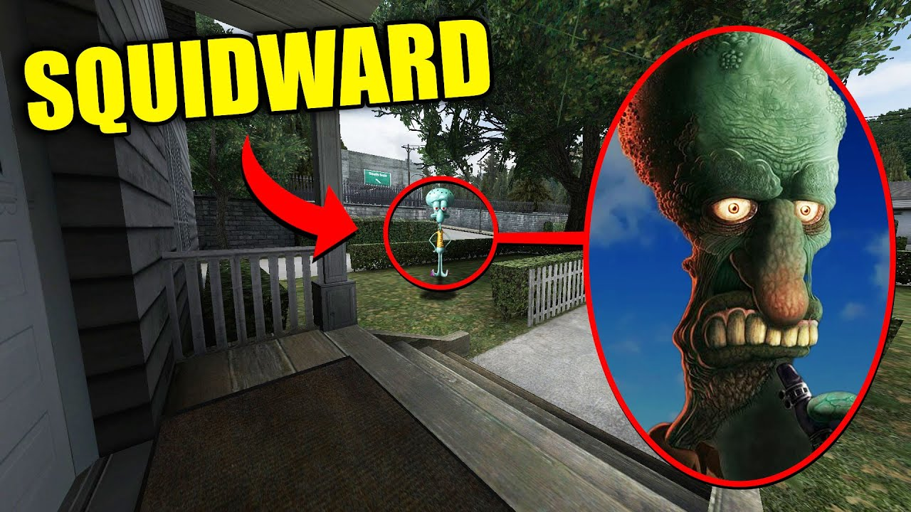 If You See CURSED SQUIDWARD Outside Your House, RUN AWAY FAST!!! (Scary Spongebob)