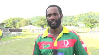 ICC Men's T20 World Cup Global Qualifier - Interview Andrew Mansale - PNG v Vanuatu