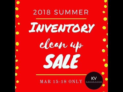 Inventory Clean Up Sale!!! Video 1
