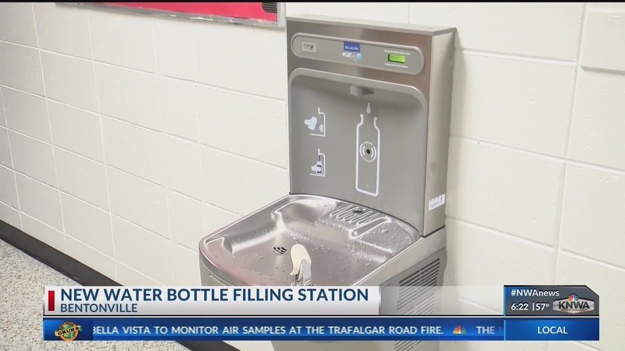 Unique Water Bottle Filling Station Comes to Bentonville School (KNWA)