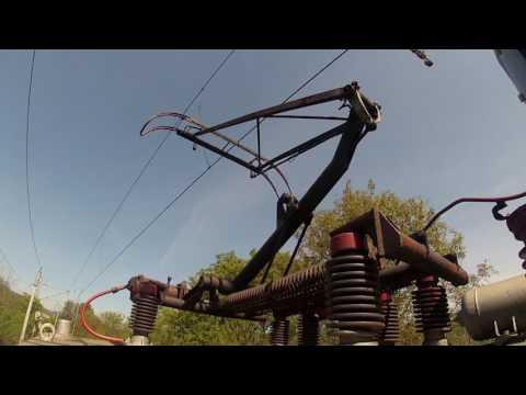 A Pantograph and a 25 kV overhead line