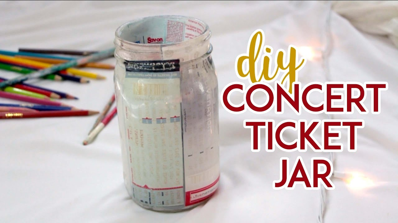 How To Make A DIY Concert Ticket Jar   YouTube  Make Concert Tickets