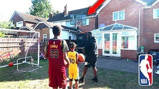 CURRY vs JAMES KNOCKOUT NBA BASKETBALL CHALLENGE!