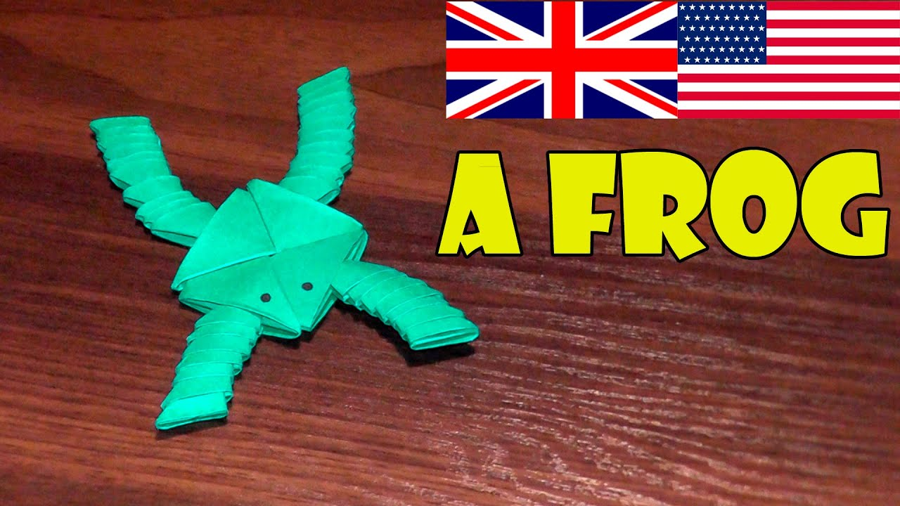 how to make a frog out of paper
