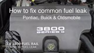 Fixed it!!! Common fuel rail leak on 3.8 3800 Pontiac, Buick Oldsmobile