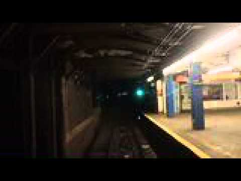 Ride from 168th Street to 34 Street on the C Train in Manhattan