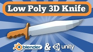 Low Poly Knife Unity 3D Asset Giveaway