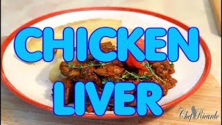 Brown Stewed Chicken Liver!! How Make Jamaica Chicken Liver | Recipes By Chef Ricardo