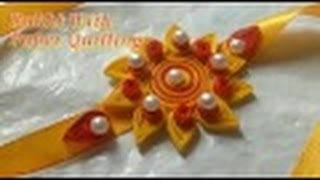 DIY Rakhi Making With Paper Quilling For Raksha Bandhan | CraftLas