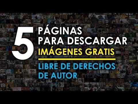 5 Páginas para descargar imágenes gratis libres de derechos de autor