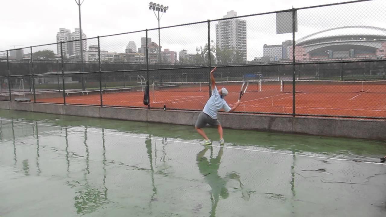 網球發球及正反單手擊球自我檢視1 - YouTube
