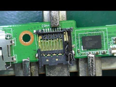 Не фиксируются карты памяти в слоте. Планшет Asus ME302KL (K005). Ремонт слота для карт памяти