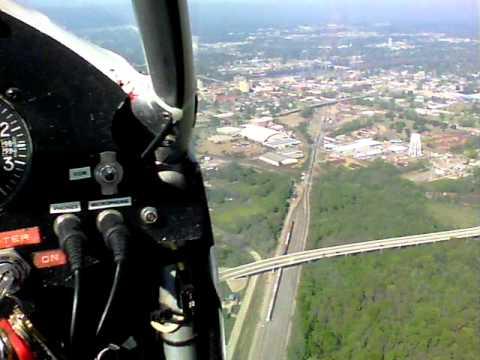Flying a Challenger over Monroe/West Monroe, LA