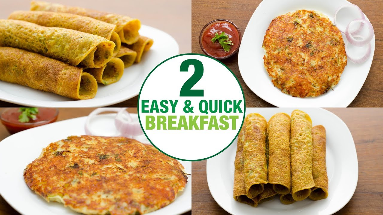 2 Easy Quick Breakfast Ideas I Indian Breakfast Recipe L Veg Breakfast Youtube