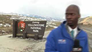 "NBC Montana Reporter Deion Broxton Breaks Bad During Live Shot ""Oh My God"" ""Im Not Messing With You"""